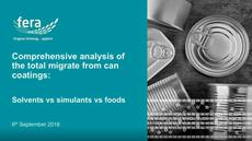 Analyzing Food Contact Materials: Comprehensive Analysis of the Total Migrate from Can Coatings